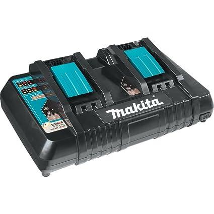 Makita DC18RD 18V Lithium-Ion Dual Port Rapid Optimum Charger (Renewed)