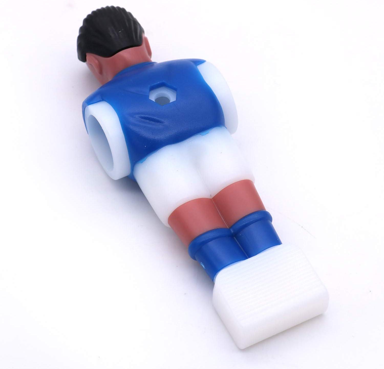 POFET 12 piezas de futbolín de futbol de mesa, accesorios de futbolín, perfecto para partes de repuesto de torneo, color azul: Amazon.es: Hogar