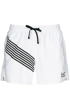 86f026018d729 Emporio Armani EA7 Men's Shorts Swimsuit Bathing Trunks Swimming Suit White  UK Size 48 (UK