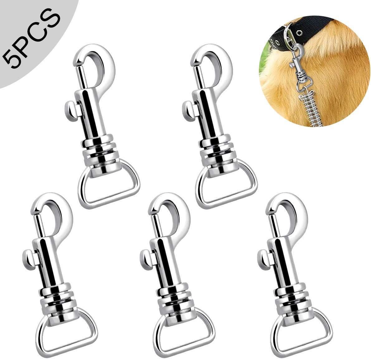 6pcs Dorado Multiusos aleaci/ón Ronda de Resorte de Ajuste con Gancho de Clip mosquet/ón 25 mm Gancho Snap Llavero Mano Crafts DIY Accesorios
