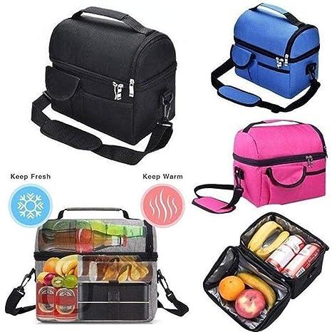 Amazon.com: Eubell - Bolsa de almuerzo con doble aislamiento ...