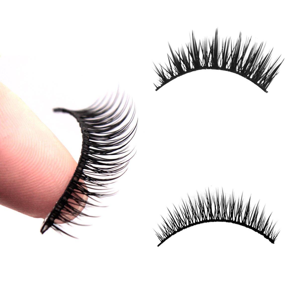 10 paires de faux cils, DISINO Ensemble de cils faux et bouclés longs, maquillage étanche à l'extension des cils