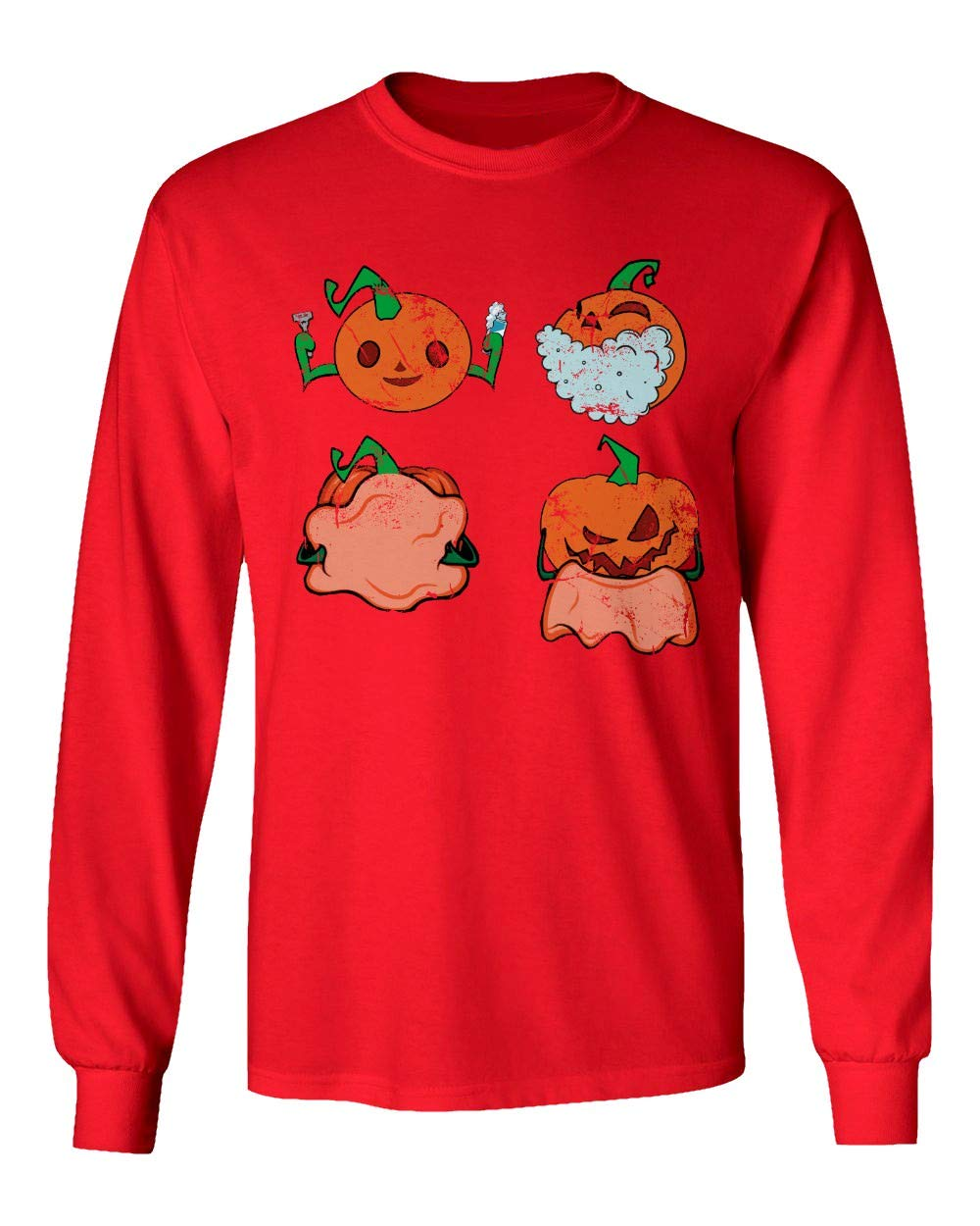 New Novelty Shirt Pumpkin Shaving Shirt Jack O Lantern Funny Halloween S Tshirt