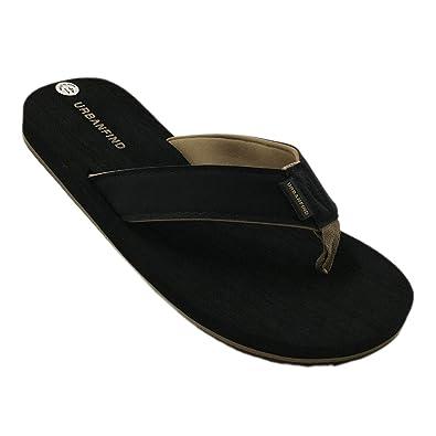 83a13e5e3eeb URBANFIND Men s Casual Flip Flops Suede Thongs Slippers Beach Slides Sandals  Black