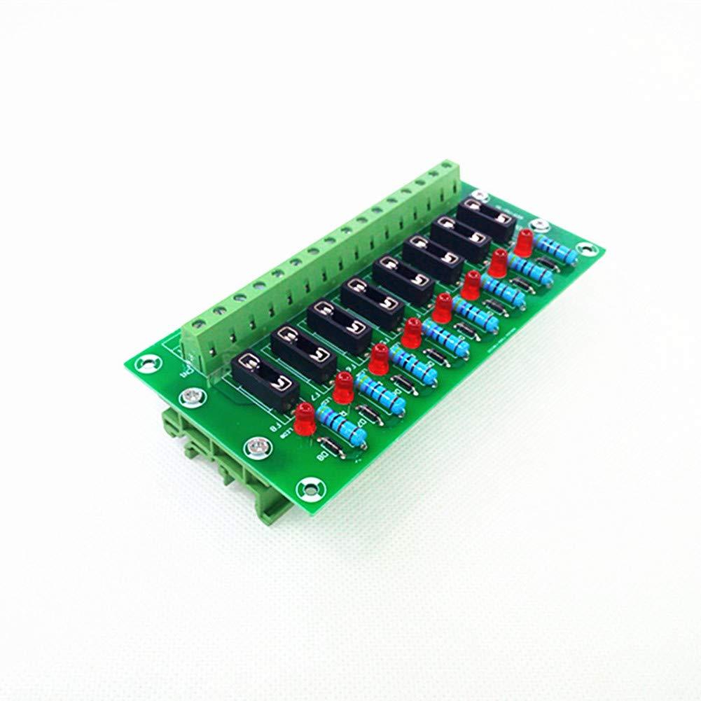 Fuse Module,8 Channel Fuse Panel Mount Power Distribution Module Board.