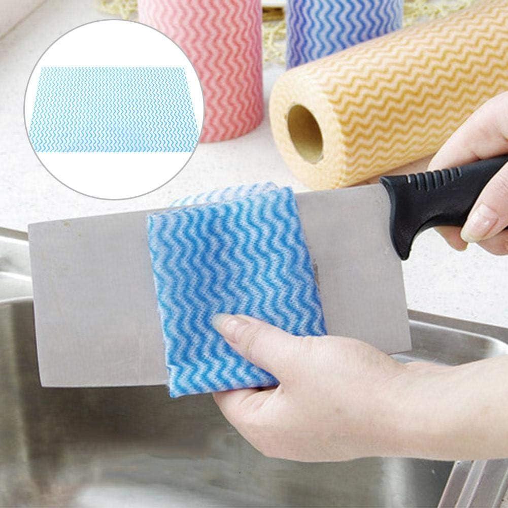 Wifehelper Confezione da 100 Panni USA e Getta antiaderenti convenienti per Asciugamani da Mano Blu in Tessuto Non Tessuto