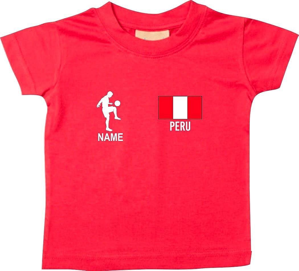 Shirtstown Kids Camiseta Camiseta de Fútbol Perú con Su Nombre Deseado Estampado: Amazon.es: Ropa y accesorios