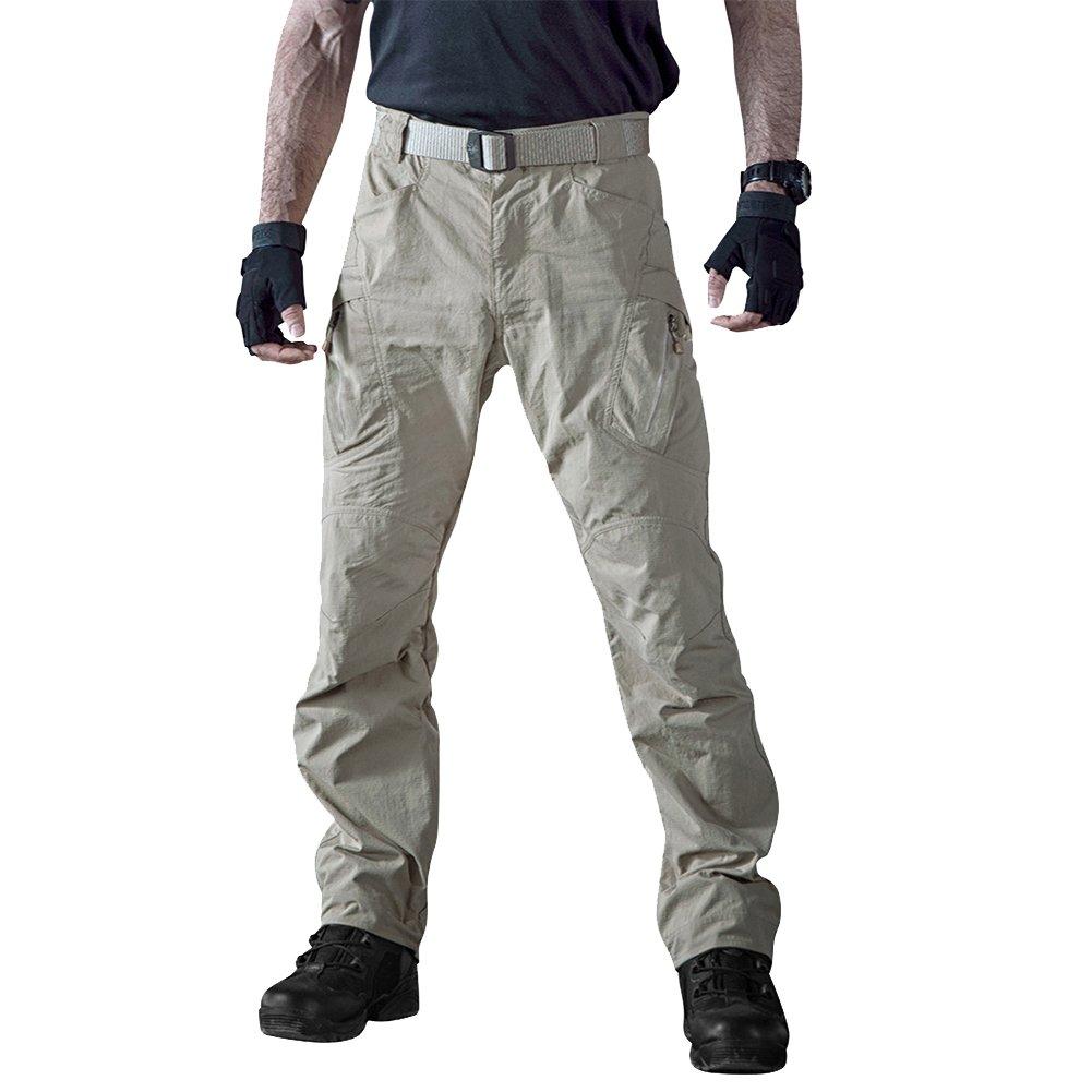 TACVASEN Outdoor Lightweight Water Repellent Assault Hiking Camping Mountain Pants Khaki