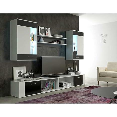 JUSThomd Foox Maxi Muebles de salón Comedor Color: Blanco ...