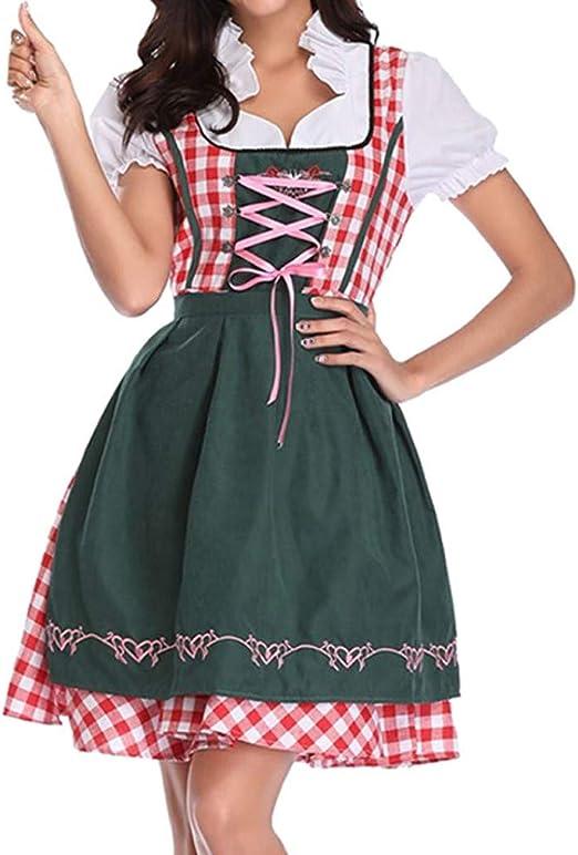 Disfraz de tirolesa para mujer de Sannysis, vestido verde sexy ...