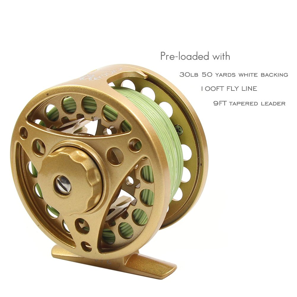 Croch Fly Fishing Reel with Aluminum Alloy Body 3 4, 5 6, 7 8 Weights Black, Gun Green, Gold, Silver