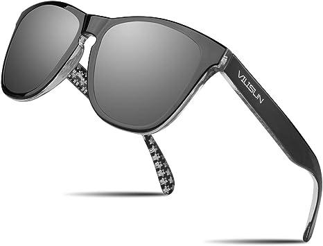 V VILISUN Gafas Sol Polarizadas Hombres Mujeres Gafas Deportivas Gafas Ciclismo, Protección UV 400, Conducción de Deportes Al Aire Libre Pesca Esquí Correr Ciclismo Camping Golf Gafas de Viaje: Amazon.es: Deportes y