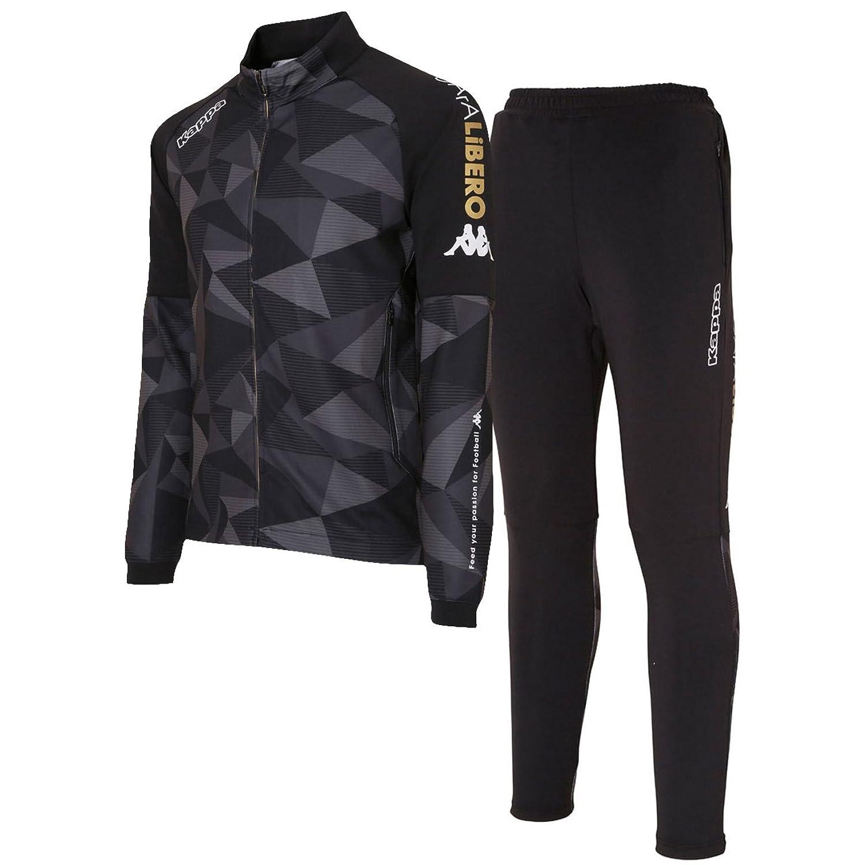 カッパ(Kappa) GArA LiBERO トレーニングジャケット&パンツ上下セット(ブラック/ブラック) KF752KT21-BK-KF752KB21-BK B07DLNRKY1ブラック/ブラック 日本 L-(日本サイズL相当)