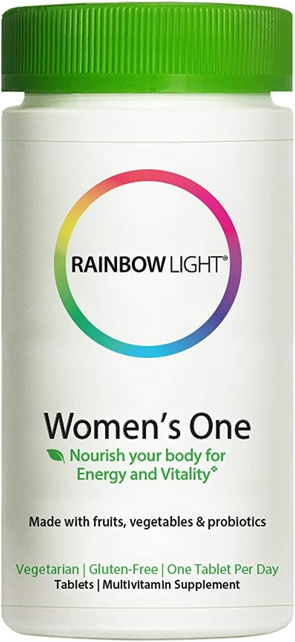Rainbow LIght – Women s One Multivitamin, One-a-Day Support for Bone and Breast Health, Helps Balance Hormones and Stress with B Vitamins, Vitamin D3 and Iron, Vegetarian, Gluten-Free, 150 Tablets