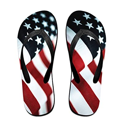 fd32353b0062 A Wave Of The American Flag ZUniverse Unisex Classic Flip Flops Slippers