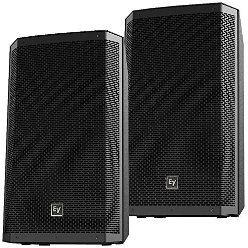 EV ZLX12P 12 in 2 Way Powered DJ PA Speakers Pair