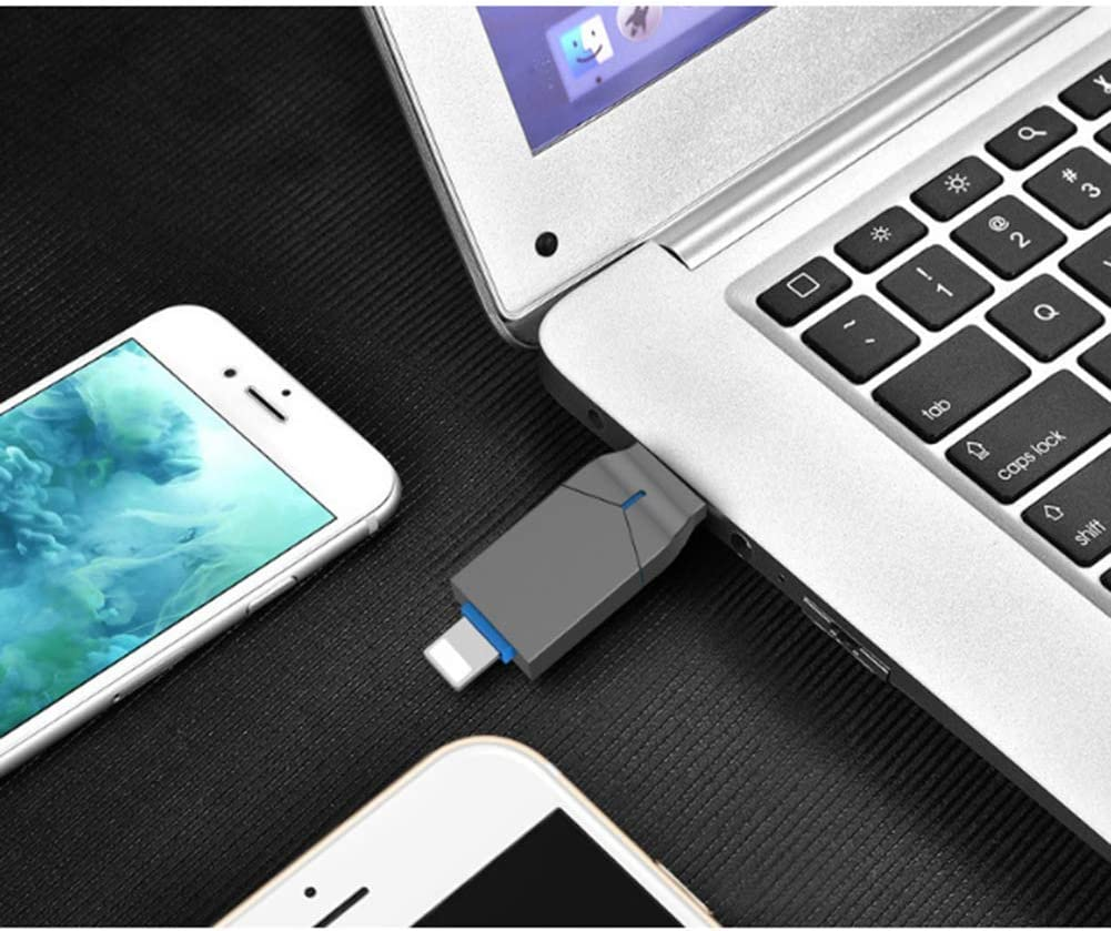 WNTHBJ 2-in-1 Push-Pull Metal Mobile Phone U Disk USB Pass-Through Portable USB Flash Drive Type-C Mobile Phone and Computer 3.0U Disk ,16gb 2PCS