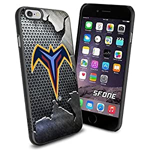 Atlanta Thrashers Crack Iron WADE2071 Hockey iPhone 6 4.7 inch Case Protection Black Rubber Cover Protector