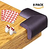 Baby Proofing Corner Guards - Soft Edge Protectors - 3M Adhesive Tape 8 Pack Kit + 6 Power Outlet Covers