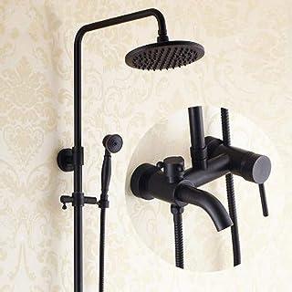 Tempesta Systems Mélangeur de douche complet noir rétro douche levage ensemble de douche en cuivre vintage ZQG