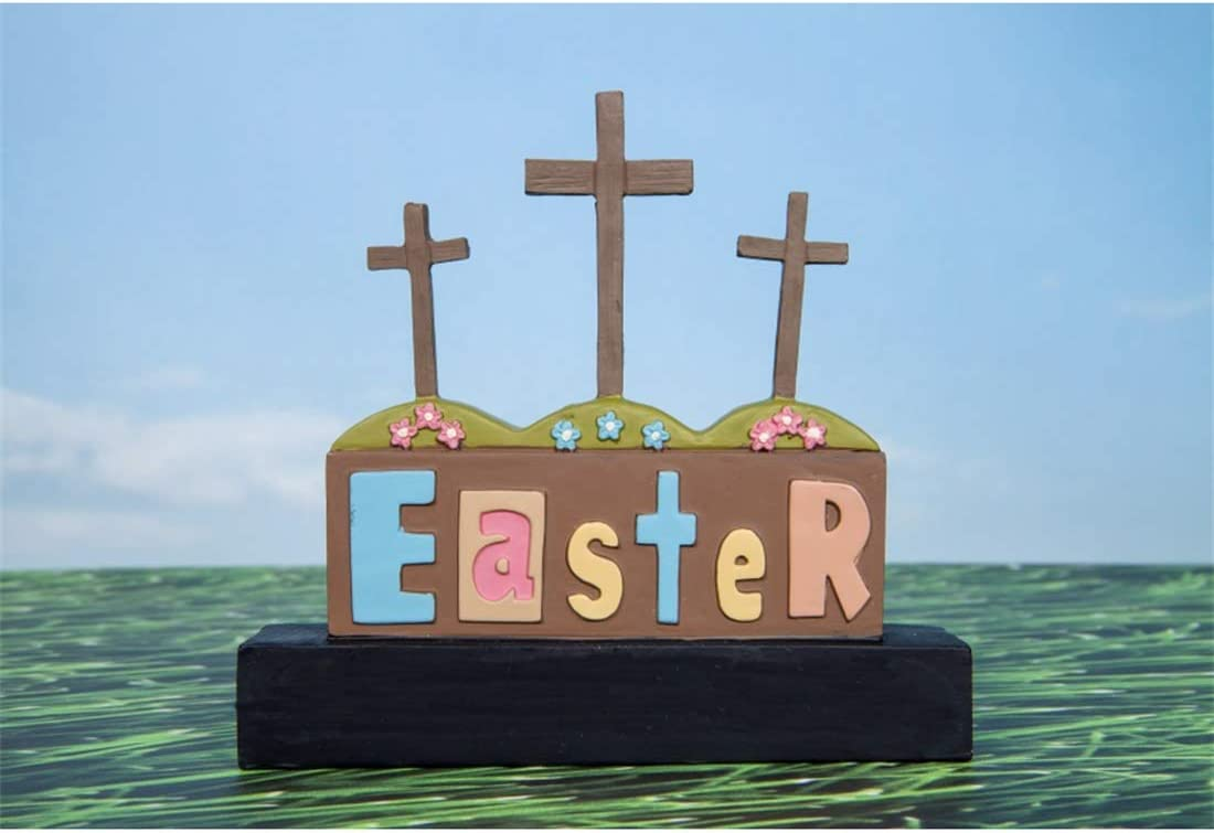 Yeele-Easter-Backdrop 10x8ft Happy Easter Photography Background Eggs Cross Sea Level Photo Backdrops Pictures Studio Props Wallpaper