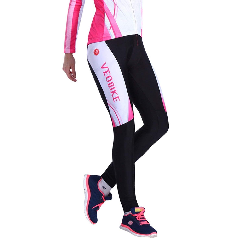 Beydodo Pantalones de Ciclismo Largos Traje de Montar Moto Rosa Al ...