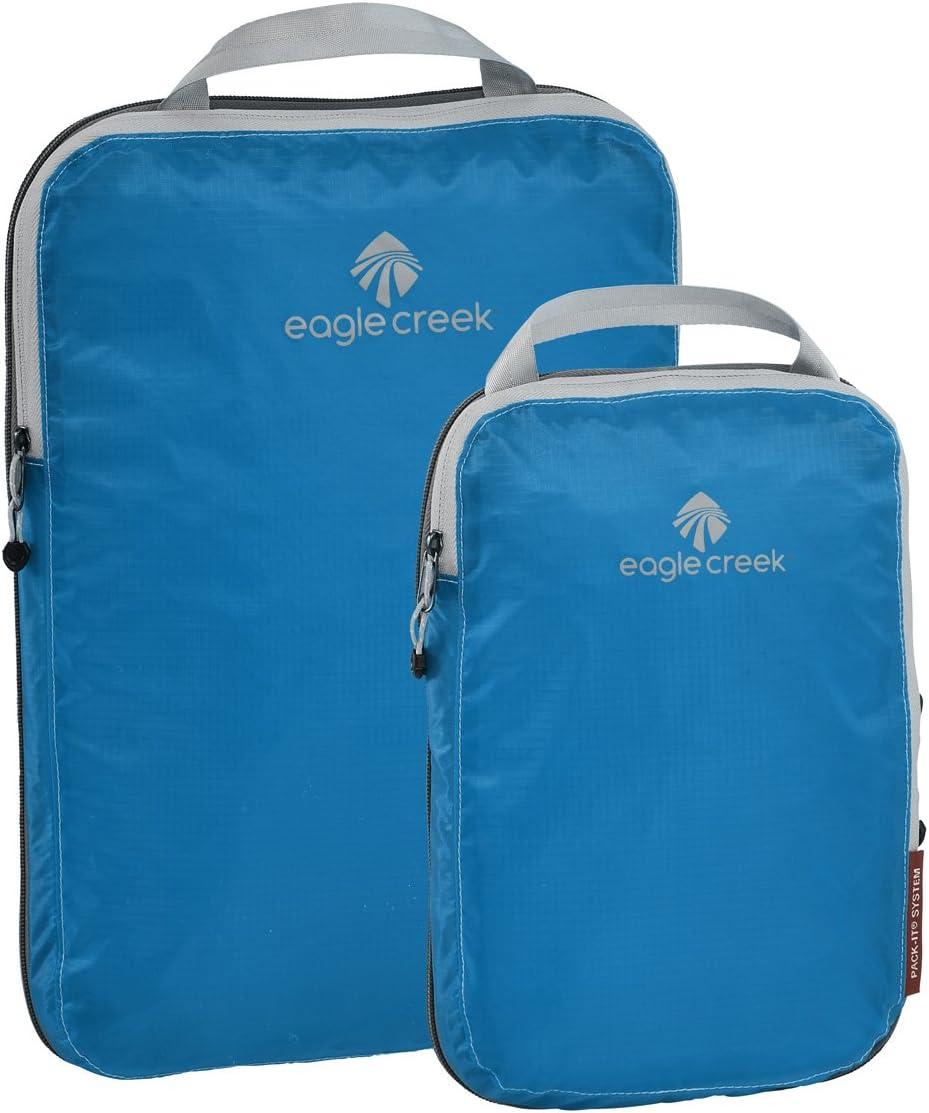 Eagle Creek Pack-It Specter Compression Packing Cubes, Brilliant Blue, Set of 2