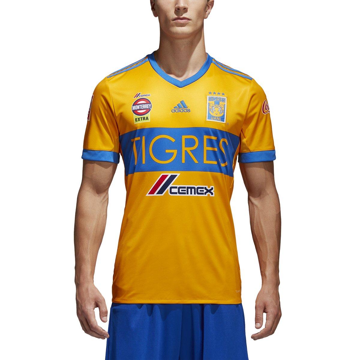 purchase cheap 3cc47 e4e24 Amazon.com: adidas Men's Soccer Tigres UANL Home Jersey ...