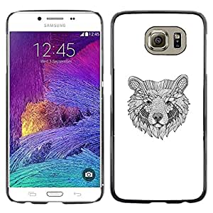 Plastic Shell Protective Case Cover    Samsung Galaxy S6 SM-G920    Black White Pencil Art @XPTECH