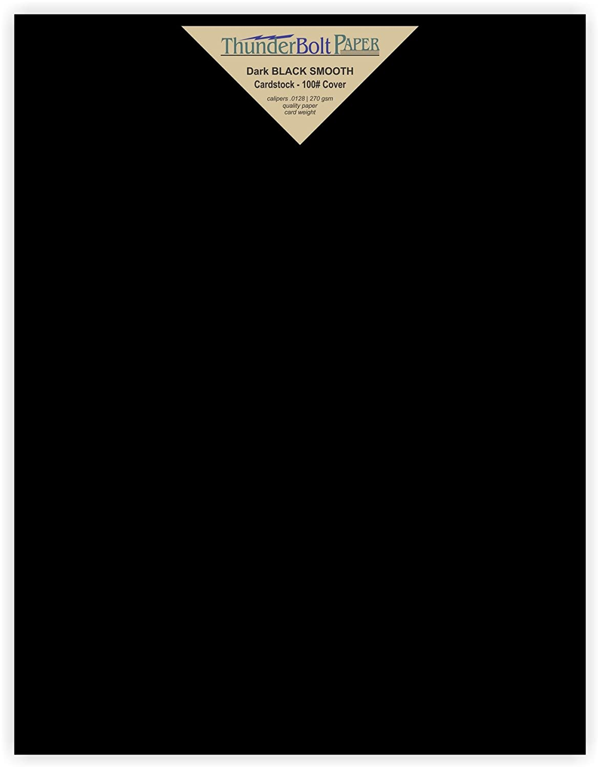 40 Dark Black Smooth Card Sheets - 100# (100 lb/pound) - 8.5 X 11 (8.5x11 Inches) Letter Size - Cover Weight Fine Paper for Quality Results on a Smooth Finish TBP 4336867768