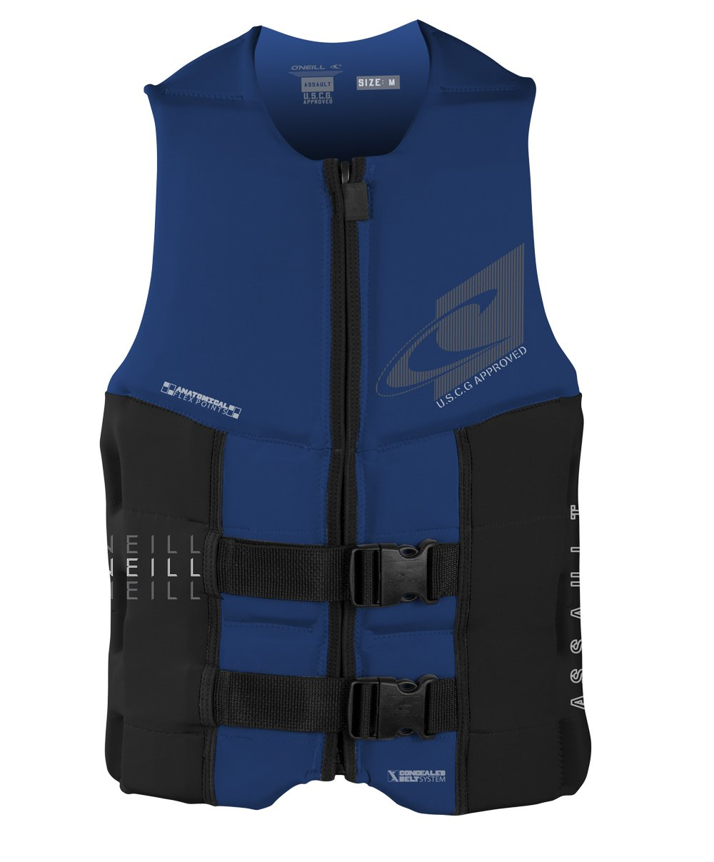 O'Neill Wetsuits Men's Assault USCG Life Vest, Pacific/Black