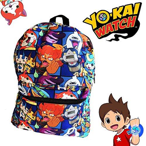 Yo Kai Watch School Backpack Luggage Bag - Jibanyan Komasan Komajiro Whisper
