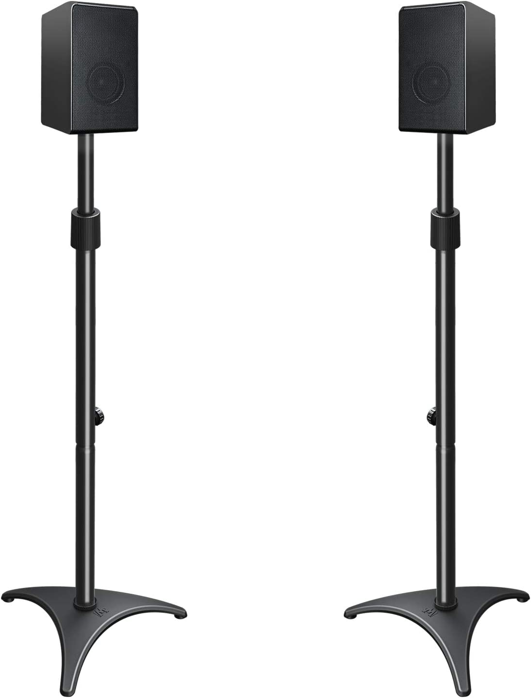 """Mounting Dream Height Adjustable Speaker Stands Mounts, One Pair Floor  Stands, Heavy Duty Base Extendable Tube, 9 lbs Capacity Per Stand,  9.9-9"""""""