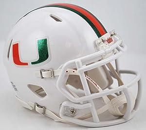 NCAA Miami Hurricanes Speed Mini Helmet, Small, Orange