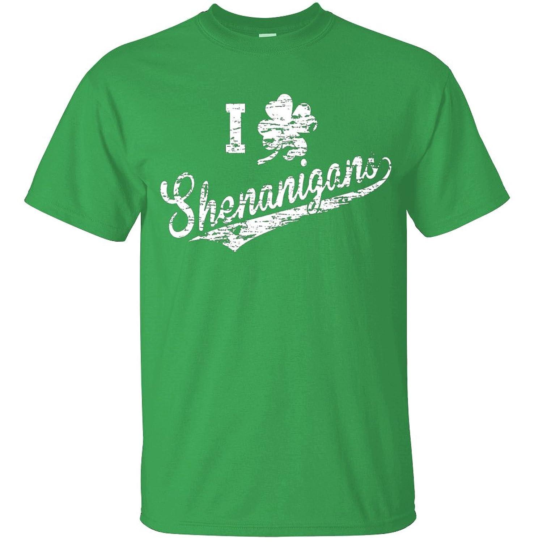 Adult I Clover Shenanigans St. Patricks Day T Shirt Green