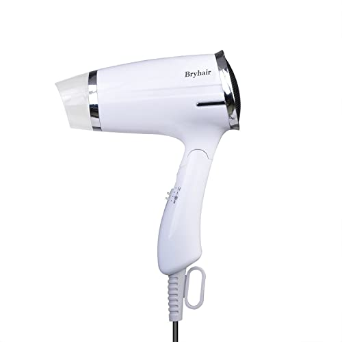 Bryhair Travel hair dryer 1200W Heat 3 Speed and cool button Folding Compact Hairdryer