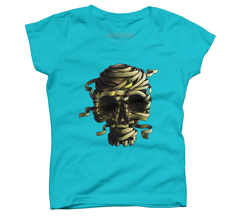 Design By Humans BandageSkull Girls Youth Graphic T Shirt
