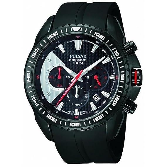 Pulsar - Reloj de pulsera hombre, caucho, color negro: Amazon.es: Relojes