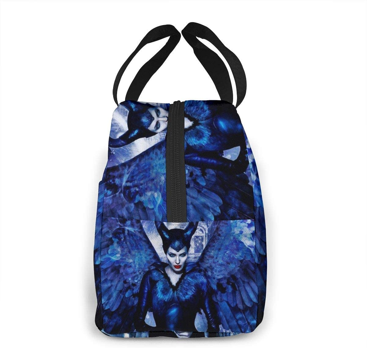 dfjdfjdjf Lunch-Taschen Maleficent Reusable Insulated Lunch Bag Camping Bag Portable Tote Box Meal Prep for Work School Picnic Or Travel