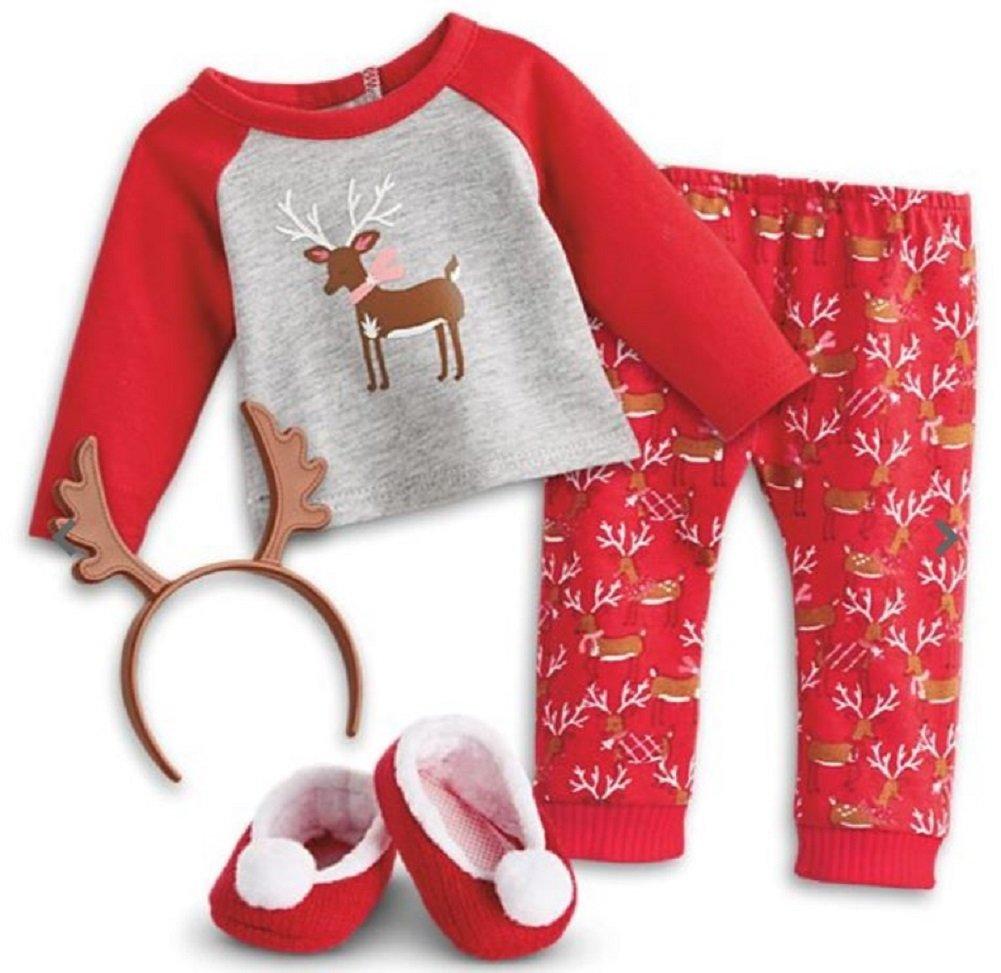 9e7943b4a Amazon.com  American Girl Doll - Festive Reindeer Holiday Pajamas ...