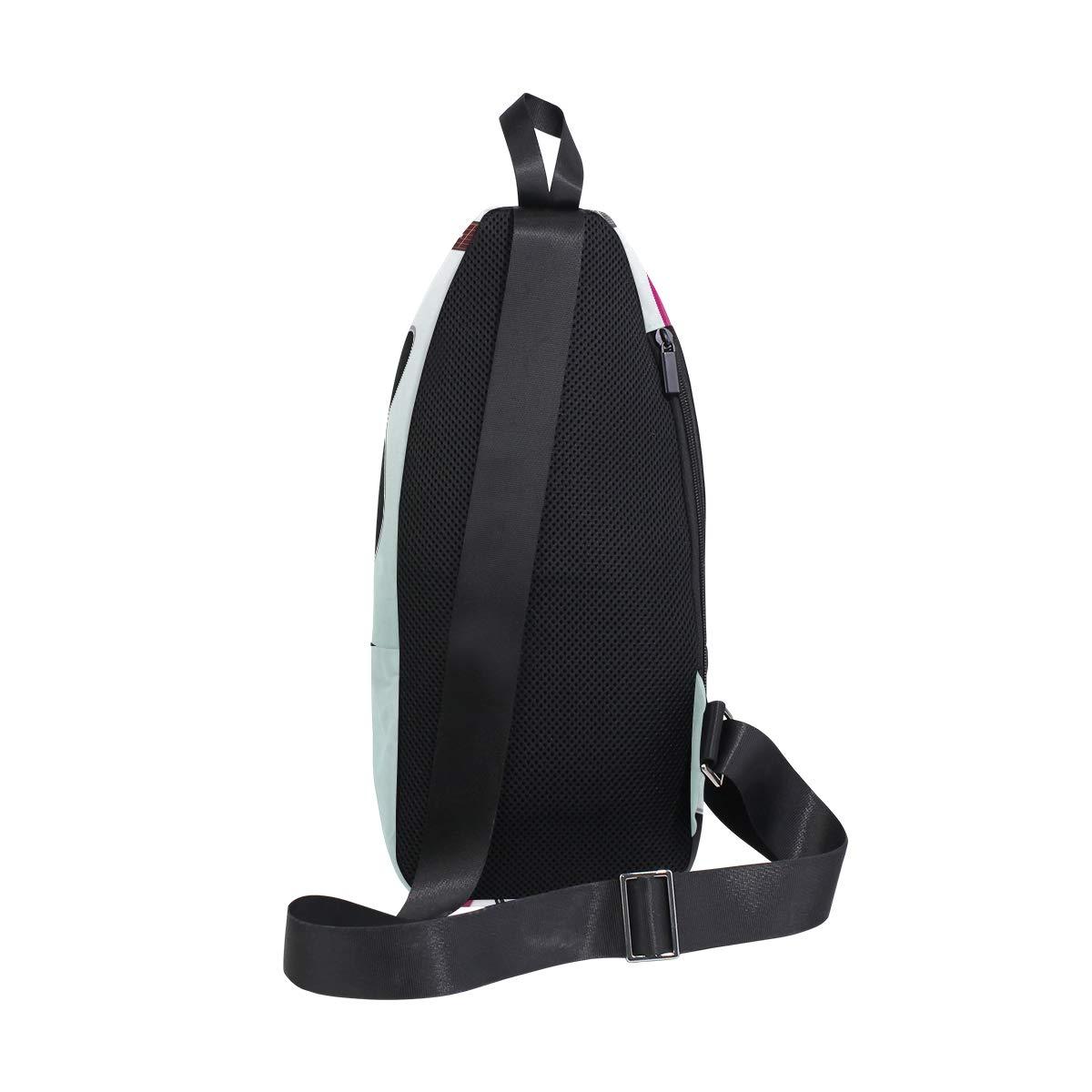Unisex Messenger Bag Guitar Shoulder Chest Cross Body Backpack Bag