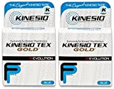 Kinesio Tex Gold FP Tape - Blue - 2'' x 16.4' - Pack of 2 rolls