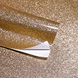 Self Adhesive Glitter Wall Paper for Walls Peel and Stick Roll Decor Art Craft (Champagne)
