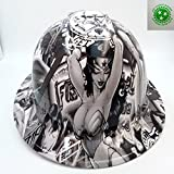 Wet Works Imaging Customized Pyramex Full BRIM SEXY WONDER WOMAN HARD HAT With Ratcheting Suspension