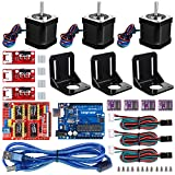 arduino motor shield kit - Longruner For Arduino Professional 3D printer CNC Kit, GRBL CNC Shield +UNO R3 Board+RAMPS 1.4 Mechanical Switch Endstop+DRV8825 A4988 GRBL Stepper Motor Driver with heat sink+Nema 17 Stepper Motor