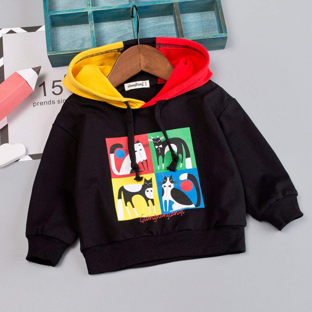 Baby Toddler Girls Boys Hoodie Sweatshirt Pullover for 0-3 Years Old Letter Long Sleeve T-Shirt Autumn Clothes