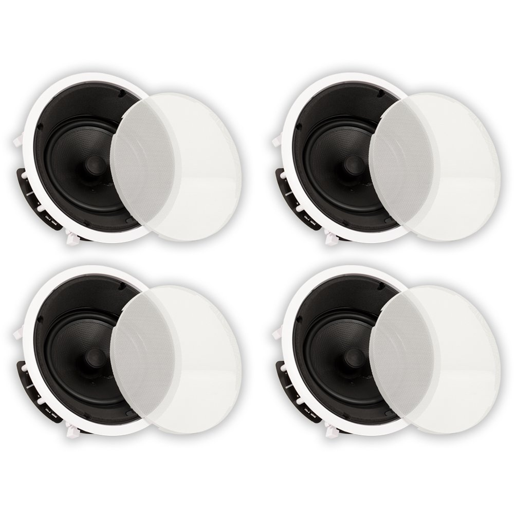 Theater Solutions TS80A In Ceiling 8'' Angled Speakers Home Theater Surround 4 Speaker Set by Theater Solutions