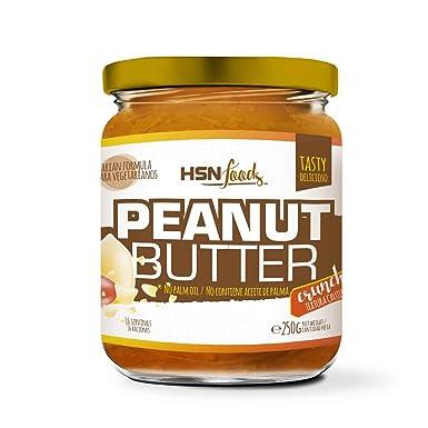 HSN Foods - Mantequilla de Cacahuete con Textura Crujiente - 100% Natural - Peanut Butter