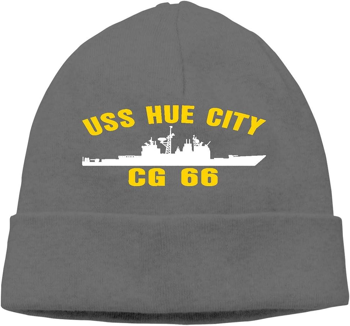 USS HUE City CG-66 Unisex Skull Cap Knit Hat Set Head Cap