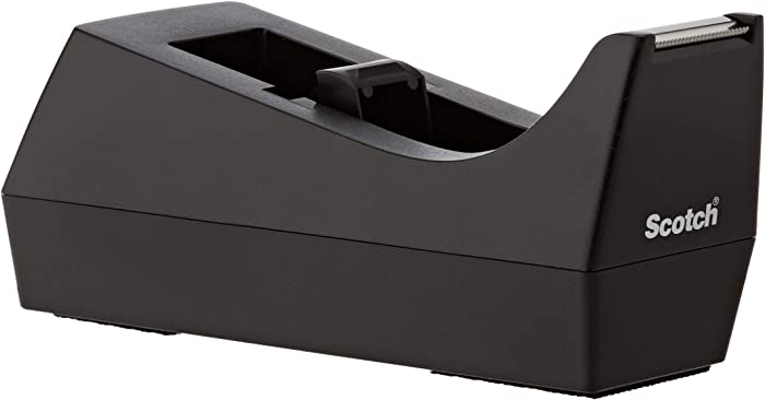 Scotch Desk Tape Dispenser, 1in. Core, Black
